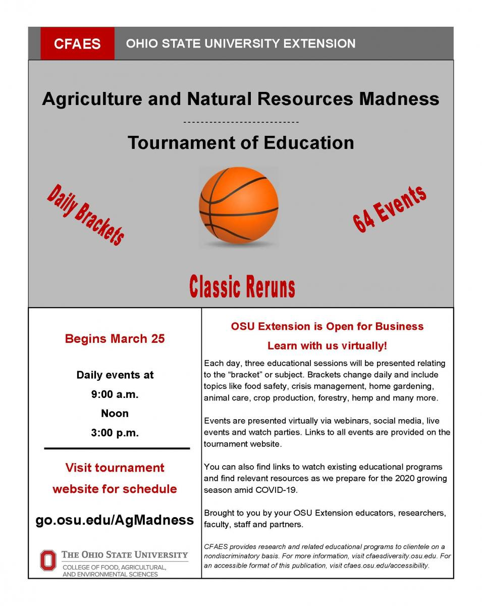Agriculture and Natural Resources Madness-Tournament of Education